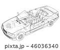 車 自動車 乗り物のイラスト 46036340