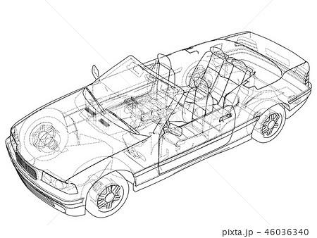 Car cabriolet concept. 3d illustration 46036340
