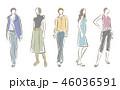 女性のファッションイラスト 46036591