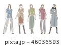 女性のファッションイラスト 46036593
