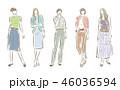 女性のファッションイラスト 46036594