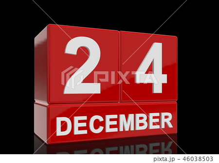 The date of 24 Dezember in white letters 46038503