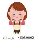 涙 泣く 女性のイラスト 46039092