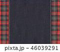 チェック チェック模様 フレームのイラスト 46039291