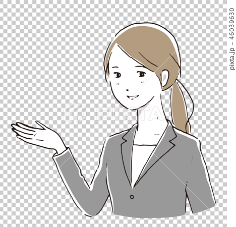 Business woman information Simple hand drawn style 46039630