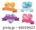 水彩 ハート 花のイラスト 46039927