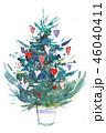 クリスマス 樹木 樹のイラスト 46040411