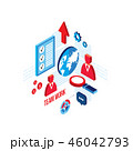 解析 分析 分解のイラスト 46042793