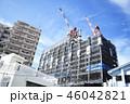 建設イメージ 建設 建築 クレーン 青空 高層ビル 沖縄県 那覇市 46042821