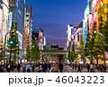 《東京都》秋葉原の夜景・歩行者天国 46043223