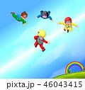 パラシュート 落下傘 人々のイラスト 46043415