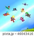 パラシュート 落下傘 人々のイラスト 46043416