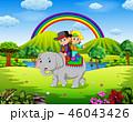 ゾウ 象 パークのイラスト 46043426