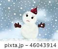 困っている雪だるま 46043914