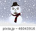 怒っている雪だるま 46043916