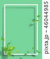 新緑 フレーム 葉のイラスト 46044985