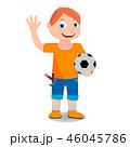 少年 ボール 玉のイラスト 46045786