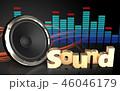 音 音声 音響のイラスト 46046179