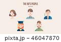 キャラクター 文字 字のイラスト 46047870