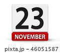 11月 十一月 キューブのイラスト 46051587