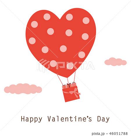 バレンタインイメージ(気球とプレゼントボックス) 46051788