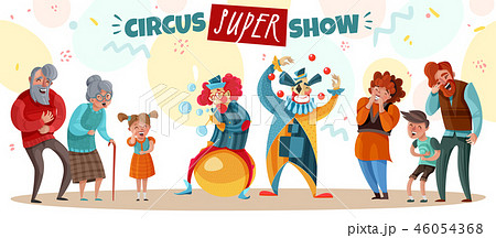 Clown Show Illustration 46054368