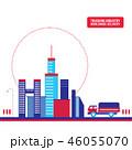 都市 配達 出荷のイラスト 46055070