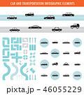 インフォグラフィック ベクター 交通のイラスト 46055229