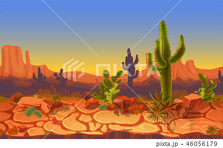 seamless desert horizontal landscape 46056179