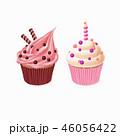 ケーキ カップケーキ クリームのイラスト 46056422