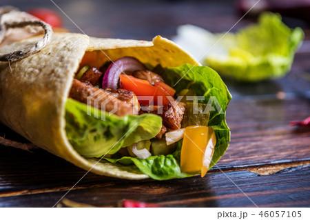 Mexican tortilla wrap 46057105