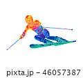 スキー スキーヤー 人影のイラスト 46057387