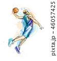 バスケ バスケットボール 籠球のイラスト 46057425