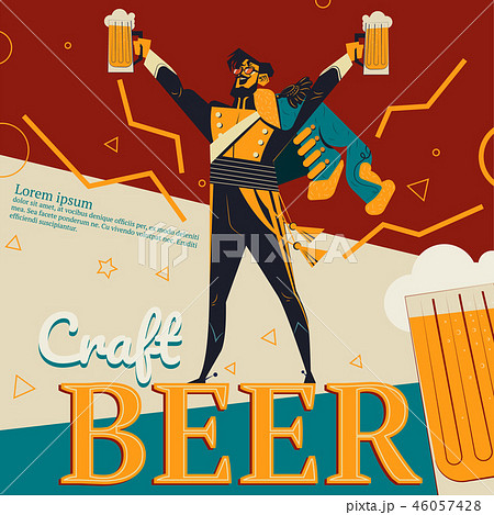 Craft beer and revolution soldier illustration 46057428