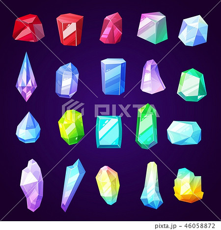 Gem stones and minerals icons for jewelry industry 46058872