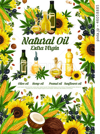 Natural oil product poster of healthy natural food 46058885