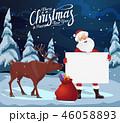 クリスマス サンタ サンタクロースのイラスト 46058893