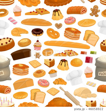 Bakery, confectionery sweets seamless pattern 46058922