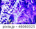 青色のキラキラ輝き電飾背景素材 46060325