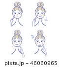 女性 人物 ひげのイラスト 46060965