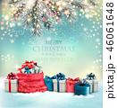 グリーティング クリスマス プレゼントのイラスト 46061648