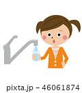 人物 水 水道のイラスト 46061874