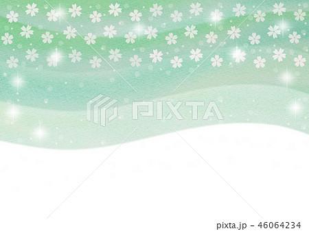桜水彩 グリーン 46064234