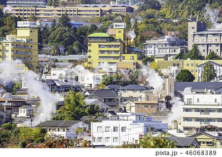 大分県別府市 湯けむり展望台から見た美しい風景 46068389
