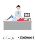 検診を受ける女性。 46069004