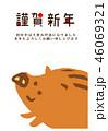 亥 年賀状 猪のイラスト 46069321