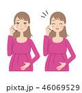電話をする妊婦。 46069529
