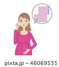 電話をする妊婦。 46069535