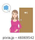 体調不良を心配する妊婦。 46069542