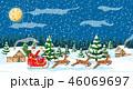 クリスマス サンタクロース トナカイのイラスト 46069697